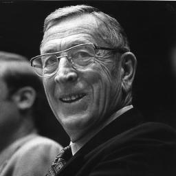 John Wooden smiling