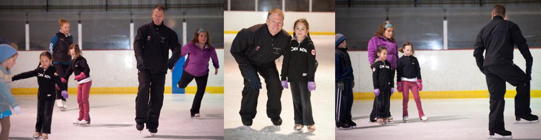 Skating students with Tom Zakrajsek